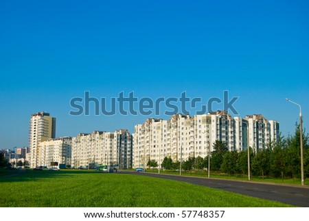 Residential district on the edge of Minsk, Belarus