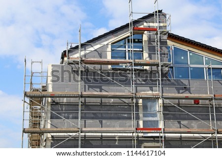Residential home with professional thermal insulation / facade insolution