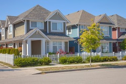 Residential homes architectural design & garden in Richmond BC Canada.