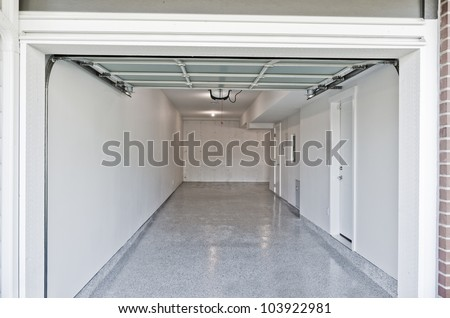 Residential house. Interior of the empty garage