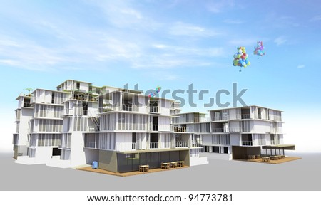 Residential rendered