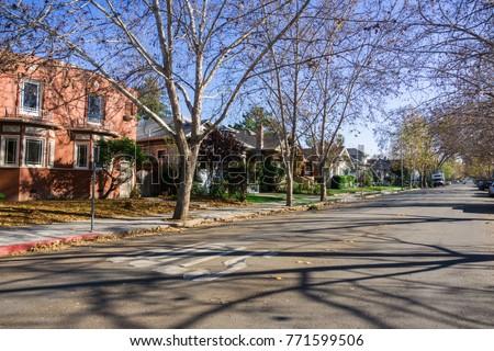 residential street in san jose  ...