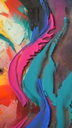 resin. Closeup of the painting. Colorful abstract painting background. Highly-textured oil paint. High quality details. pitch, tar, gum