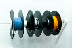 Resin rolls for 3D printer. Three-dimensional technology