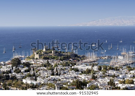 Resort of Bodrum and the Crusader castle in Turkey