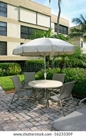resort outdoors patio pool furniture Sanibel Florida