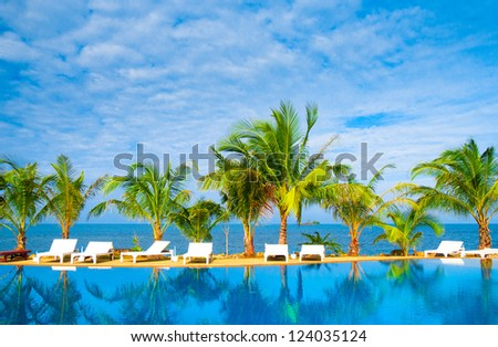 Resort Relaxation Paradise Pool #124035124
