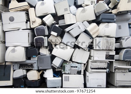 Resource recycling renewable stacking - stock photo
