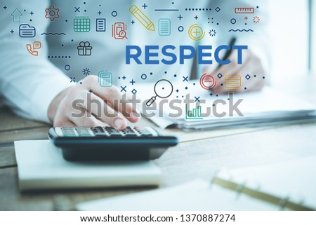 RESPECT AND WORKPLACE CONCEPT #1370887274