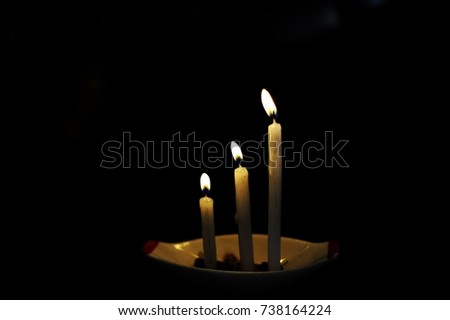 Respect in soul and spirit. Candle lights mean spirits, those are traveling in invisible world.    #738164224