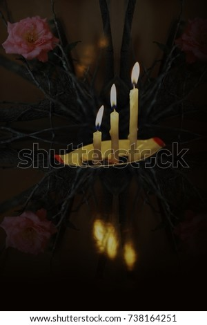 Respect in soul and spirit. Candle lights mean spirits, those are traveling in invisible world.    #738164251