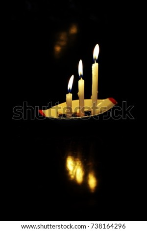 Respect in soul and spirit. Candle lights mean spirits, those are traveling in invisible world.    #738164296