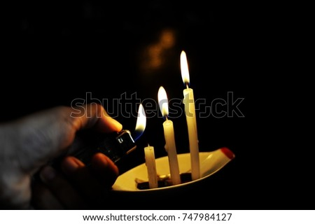 Respect in soul and spirit. Candle lights mean spirits, those are travelling in invisible world.    #747984127