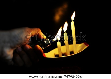 Respect in soul and spirit. Candle lights mean spirits, those are travelling in invisible world.    #747984226