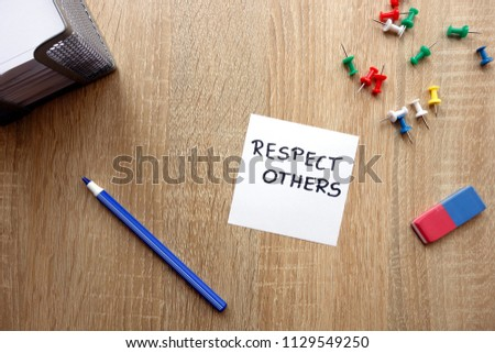 respect others concept with...