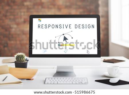 Responsive Design Website Template Layout Concept #515986675