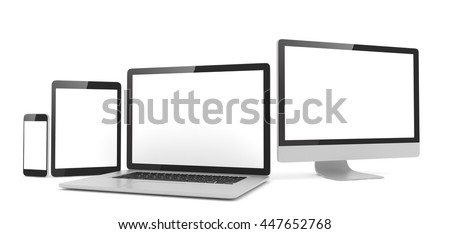 responsive web design  laptop ...