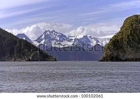 Ressurection  Bay near Seward in Alaska