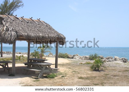 Rest area on the beach in Key West, Florida