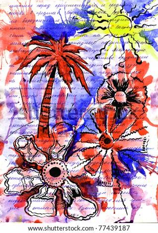 rest,  sea, palm trees