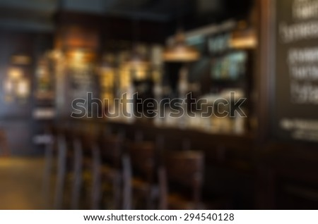 Restaurant abstract blur background with bokeh image #294540128