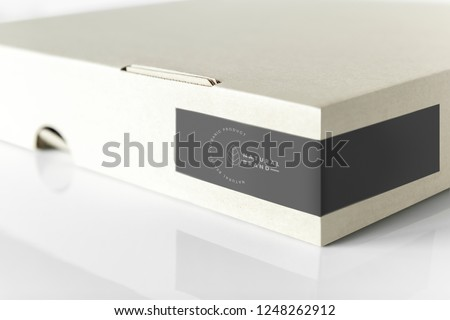Restaurant and cafe pizza box mockup