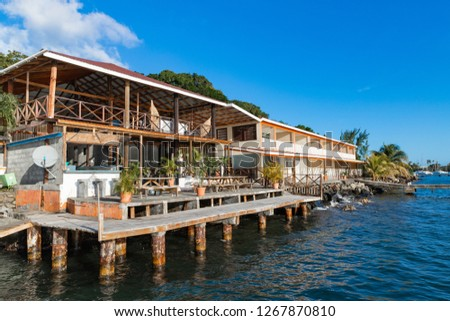Restaurant and jetty #1267870810