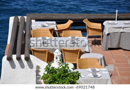 Restaurant at the coast. Tenerife, Canaries