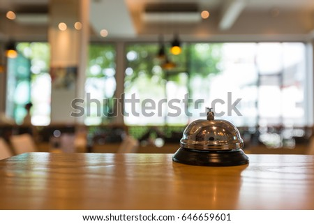 restaurant bell vintage with...