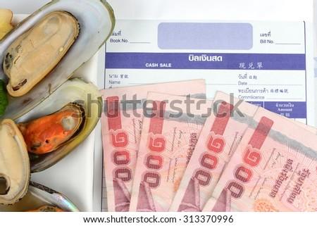 Restaurant , Check bill.