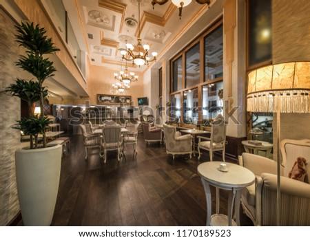 Restaurant  classy interior #1170189523