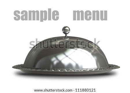 Restaurant cloche isolated on white background 3d render