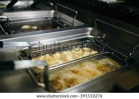 Restaurant deep fryer Stockfoto ©