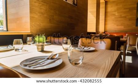 restaurant interior #432082555
