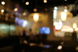 Restaurant interior abstract blur background