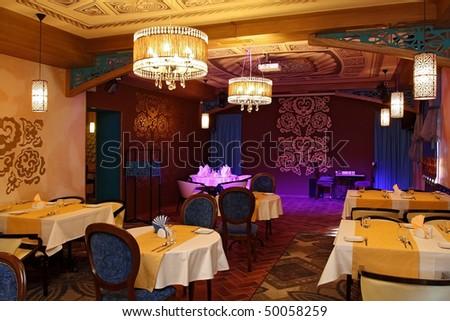 Restaurant interior in east style
