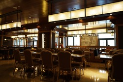 Restaurant interior, part of a hotel
