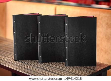 Restaurant menu on the table #149414318