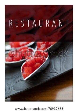 Restaurant menu or card