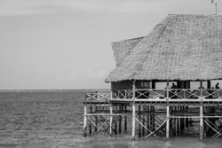 restaurant on the leader black and white in Tanzania