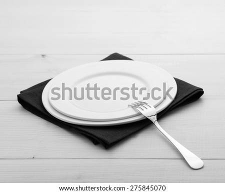Restaurant plates and cutlery on table cloth on wooden table for dinner. Top view square & Free photos Restaurant Menu Design. Restaurant menu with empty plate ...
