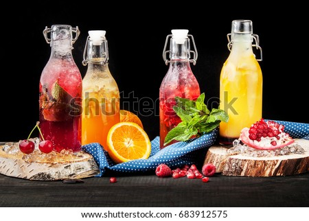 Restaurant still-life with plates with food on a table background. Template for a menu. Template for a menu #683912575