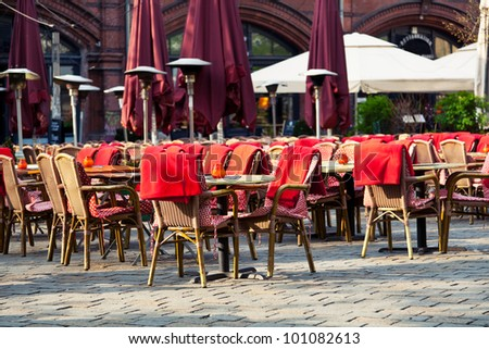 Restaurant Terrace in a Sunny Day