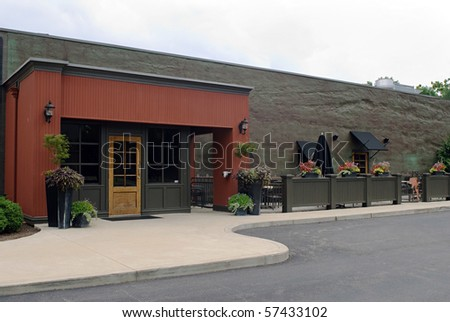 Restaurant with Outdoor Cafe #57433102