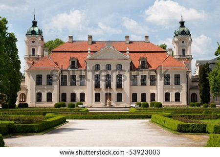 restaurated baroque palace in poland