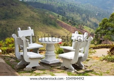 resting area in garden