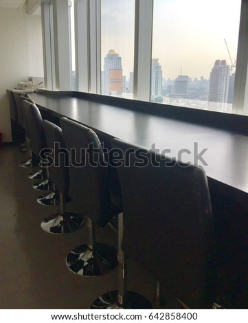 Resting area near the windows #642858400