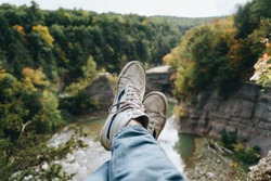 Resting on a scenic overlook at Letchworth State Park in upstate New York.
