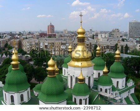 Restoration of an ancient temple in Kiev
