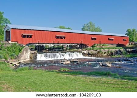 Restored Historical Bridge in Bridgeton Indiana